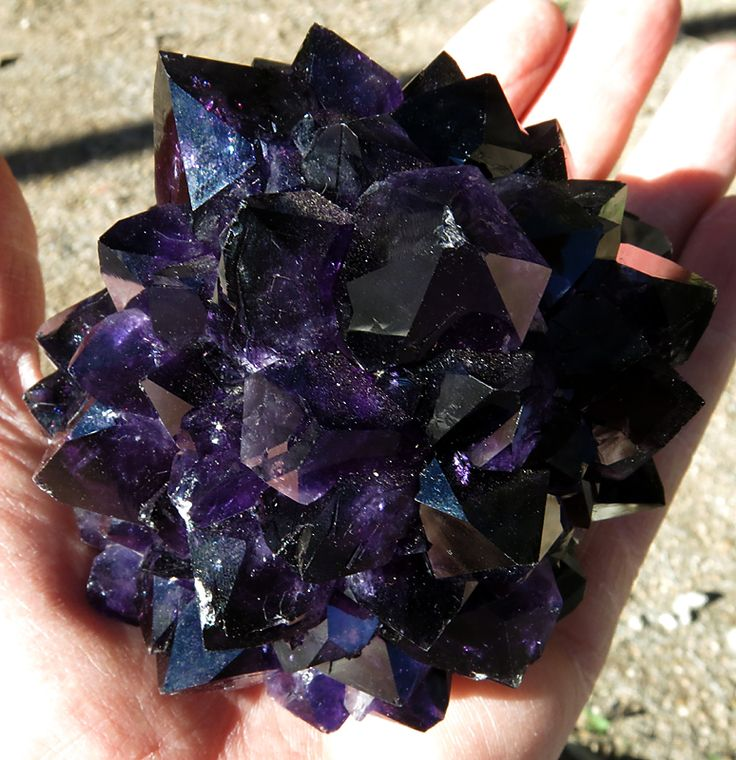 1 pound 6.2 oz. True Black Grape Amethyst Stalactite 3 x 3 inch. Black/purple consistant color. There is some contacts to a few point tips....no matter, these are rare. For sale. www.etsy.com/shop/GoldenHourMinerals