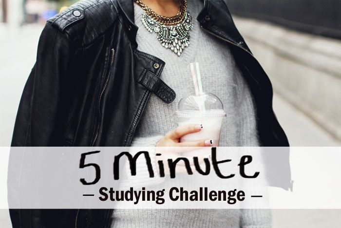 A Chic Lifestyle - Mentoring Students to Think and Achieve BIG: 5 Minute Studying Challenge