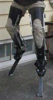Digitigrade Stilts.  Might be useful for a satyr costume at some point.