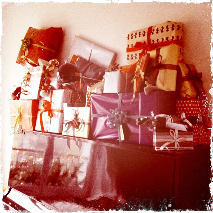 Christmas Presents, Christmas 2011. Taken with Hipstamatic on my IPhone!