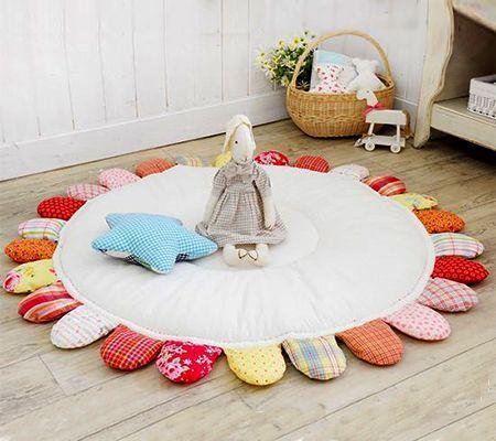 Este tapete de tecido para crianças pode ter as cores que você desejar.