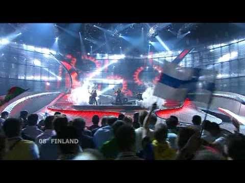 Eurovision 2008 Final 08 Finland *Teräsbetoni* *Missä miehet ratsastaa* 16:9 HQ - YouTube