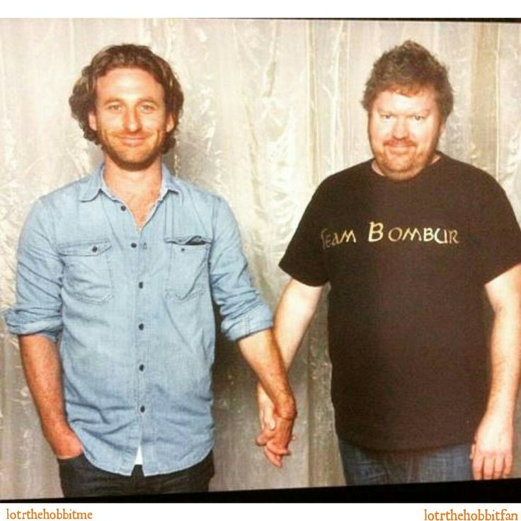 Best Friends Forever! #TheHobbitcast #DeanOGorman #StephenHunter