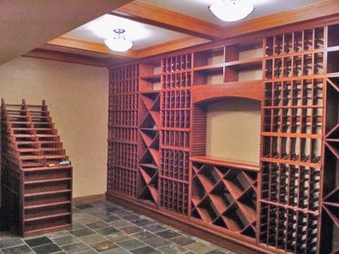 Example Wine Cellar Created Using These 6 Ft Wine Rack Kits Have