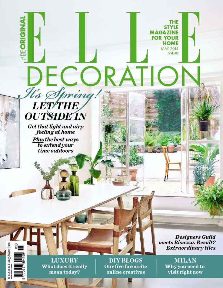 Elle decoration may 2015 uk