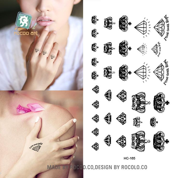 Body Art waterproof temporary tattoos for men and women Sex simple 3D crown design small tattoo sticker Wholesale HC1165