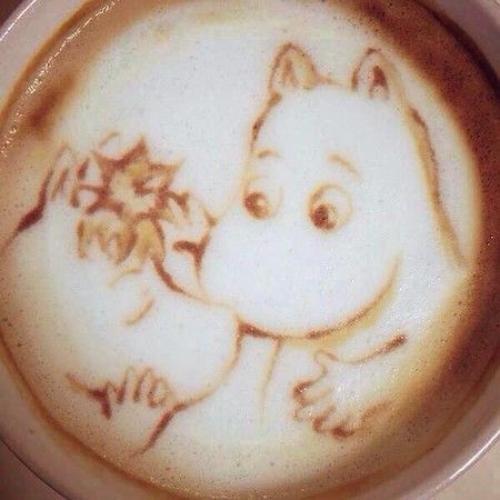 Moomin & Snork Maiden Coffee Art