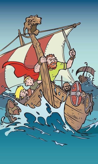 Illustration for Rune T. Kidde's story about viking king Knud den Store.
