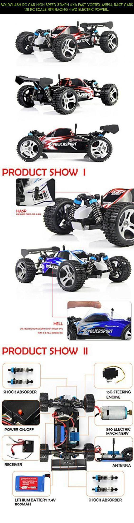 Boldclash RC Car High Speed 32MPH 4x4 Fast Vortex A959A Race Cars 1:18 RC SCALE RTR Racing 4WD ELECTRIC POWER BUGGY W/2.4G Radio Remote control Off Road Truck Powersport Roadster, Red #technology #4x4 #camera #racing #drone #tech #gadgets #plans #shopping #fpv #kit #parts #products #wltoys