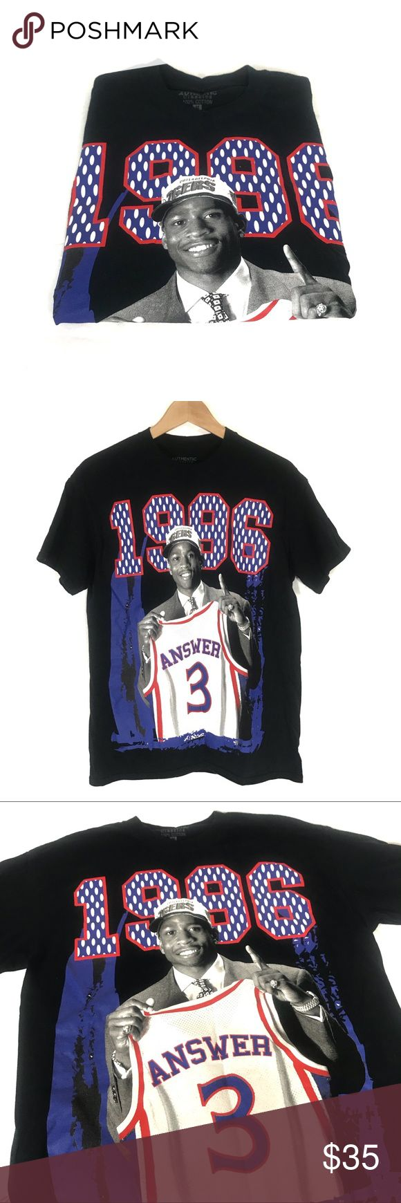 Vintage Allen Iverson Graphic Tee Vintage Allen Iverson Graphic Tee Black Tee Size Medium  Great Condition  Offers and bundles are welcomed  Thank you for shopping Authentic Original Vintage Style Shirts Tees - Short Sleeve