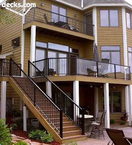 185 best images about deck railing and porch railing for 3 story deck design