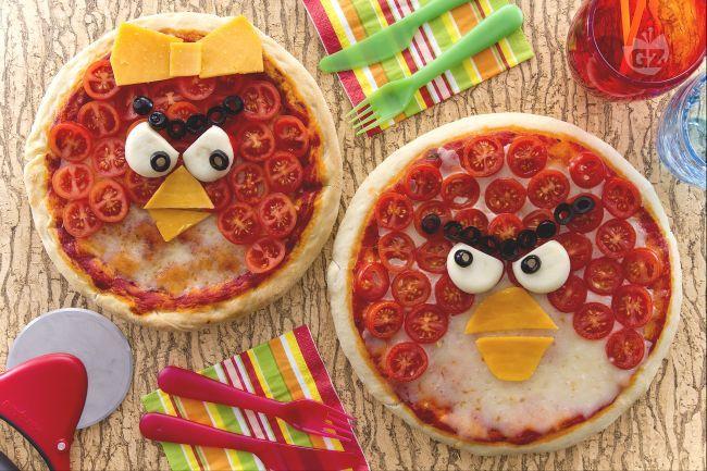 La creatività in cucina - #pizza #angrybirds