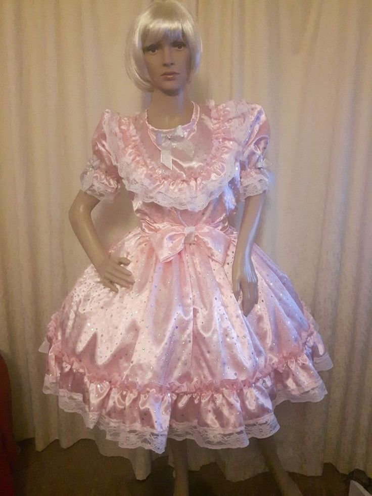 Details About Sissy Adult Baby Fancy Dress Pink Sequin -5356