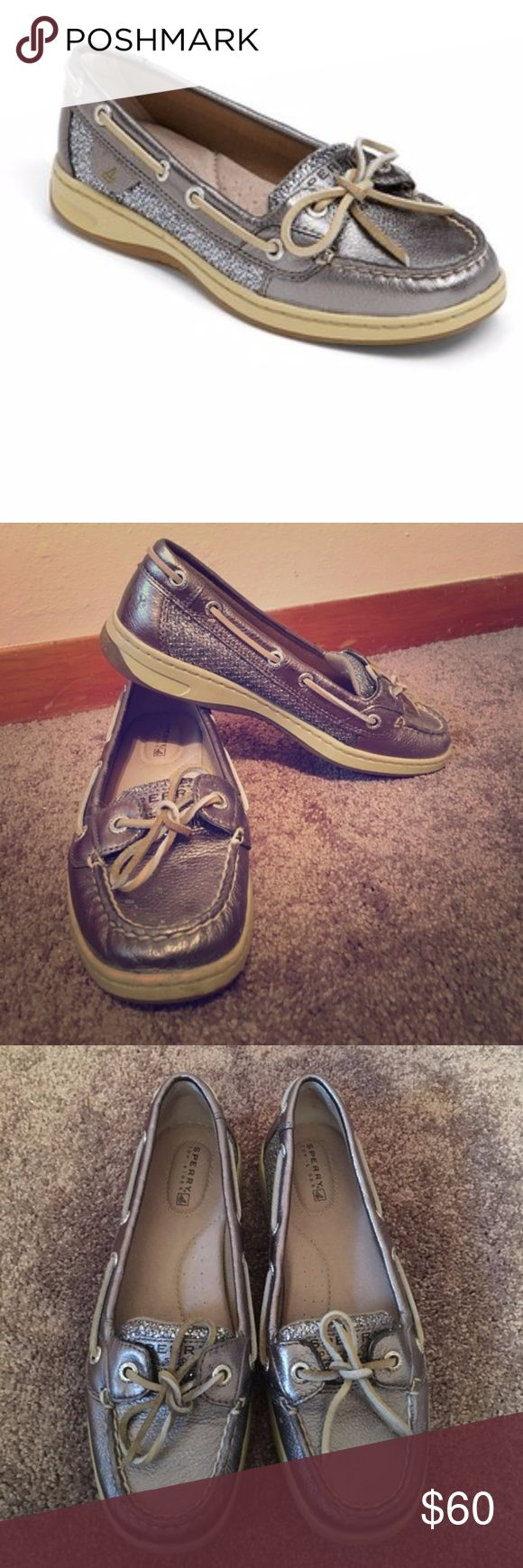 CLEARANCE! Sperry Top Sider Metallic Angelfish WOrn only once. In excellent condition. Not wide fit, medium fit. Sperry Shoes Flats & Loafers