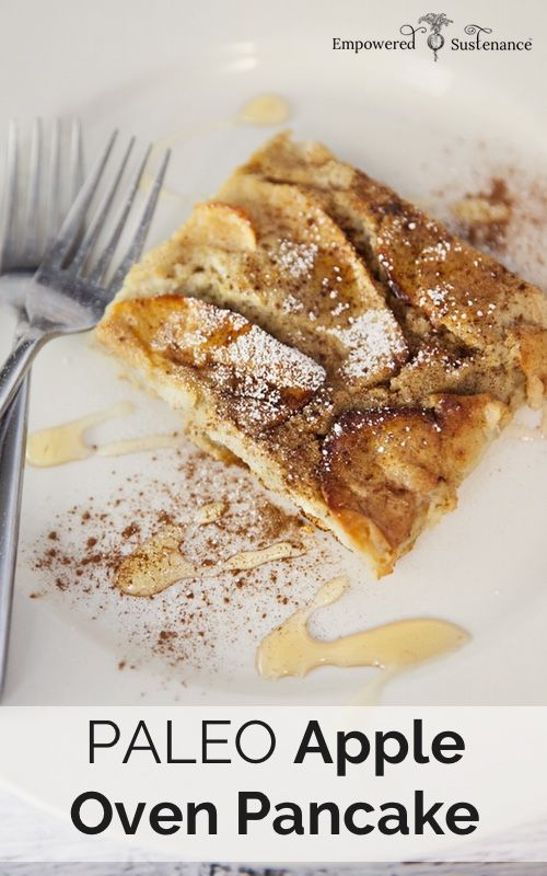 Apple Paleo Oven Pancake, made with nutrient-dense coconut flour