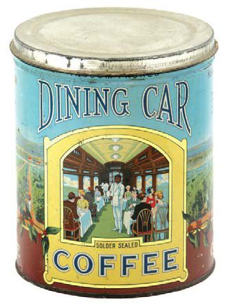 Dining Car Coffee Tin | Antique Advertising Value and Price Guide