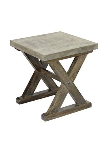Great for outdoor living or any modern Unique side table ideas