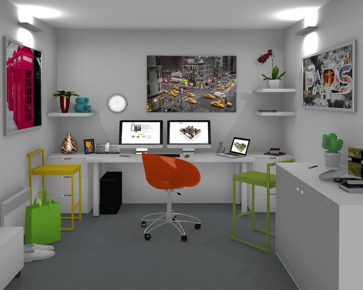 100 best 3d home design images by homebyme on pinterest for Free 3d office design software