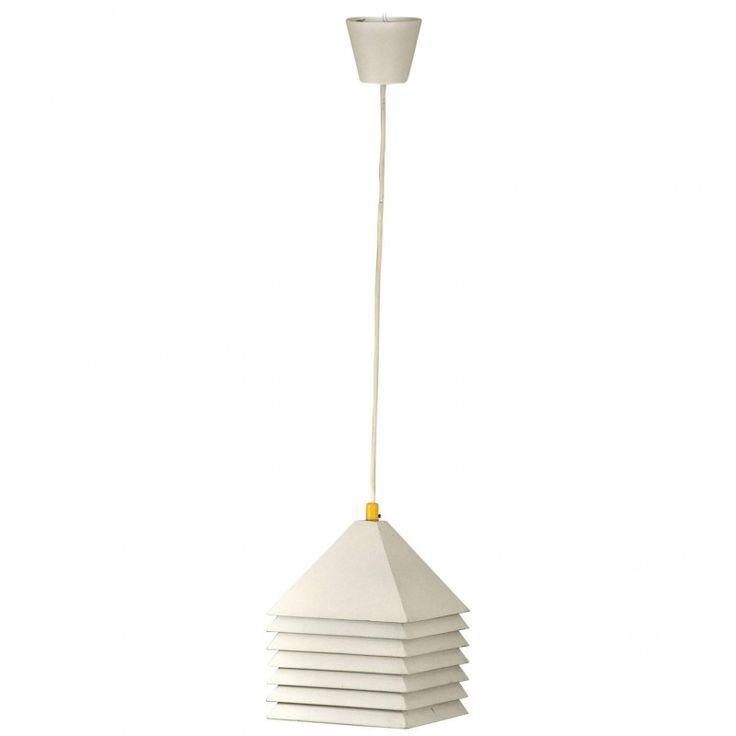 Plafonnier scandinave en métal laqué blanc, édition Markaryd - 1960 - Design Market