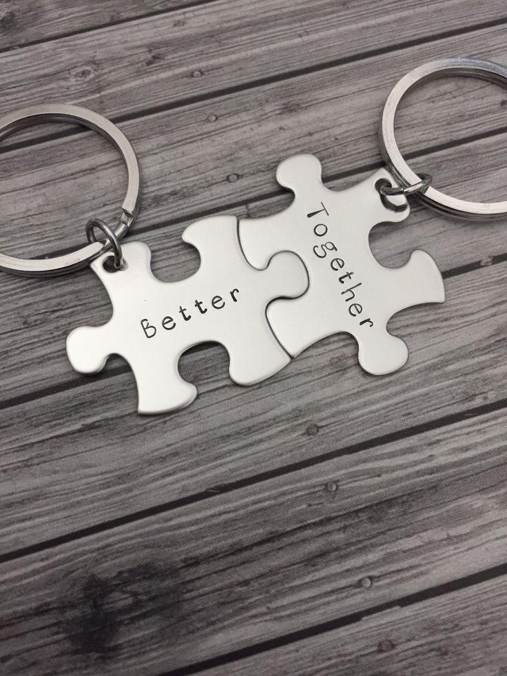 Better together keychains, couples keychains, boyfriend gift #boyfriendgift