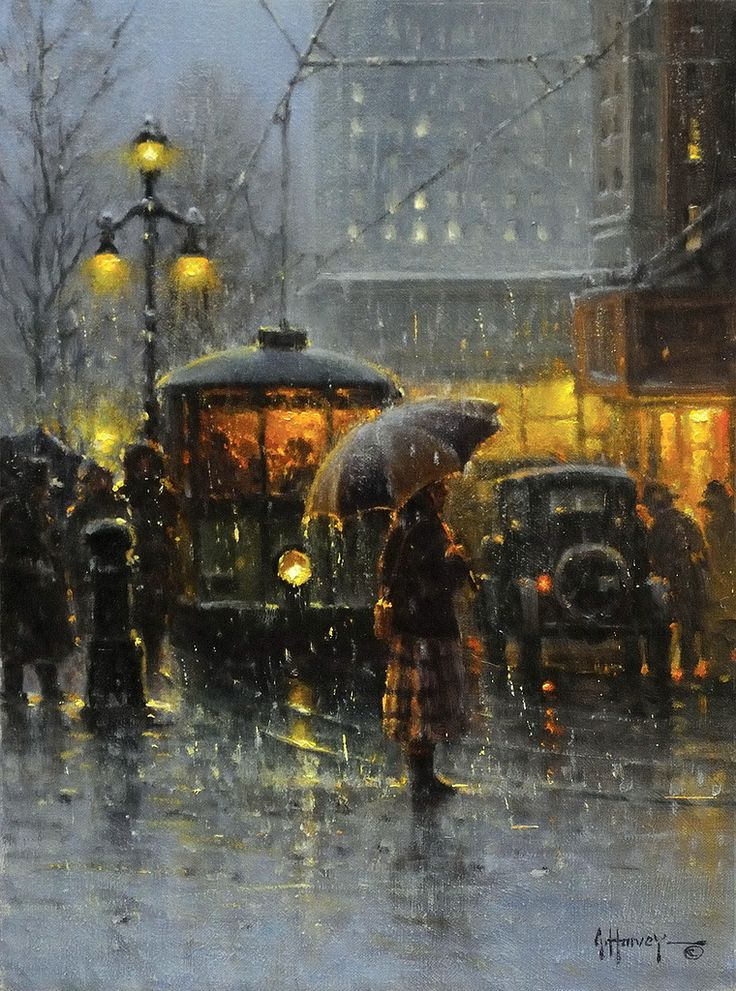 G. Harvey (b. 1933) - Trolley Stop, New Orleans