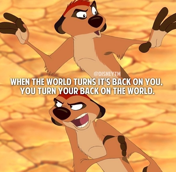 The Lion King Quotes from Timon  This brings back memories. The lion king my favorite disney movie!!!