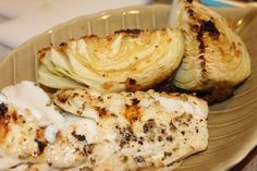 Grilled cod and roasted cabbage recipe is low carb and phase 1 compatible on the Ideal Protein diet