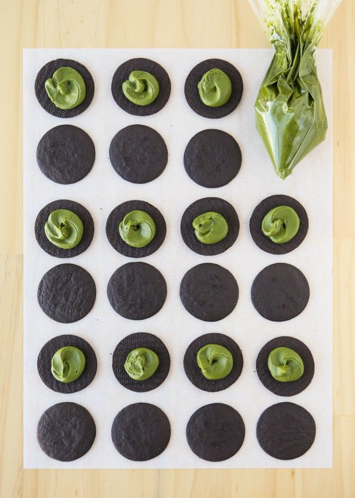 Easy Matcha Oreos. A Japanese take on America's Favorite Cookie!
