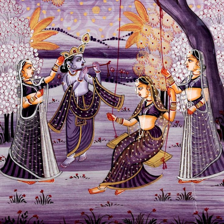Buy Prem Bandhan Radha Krishna Silk Paintings,Radha-Krishna Paintings Online - Send Gifts to India, USA, UK & More from IGP.com | IGP184159