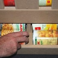 DIY canned food dispenser