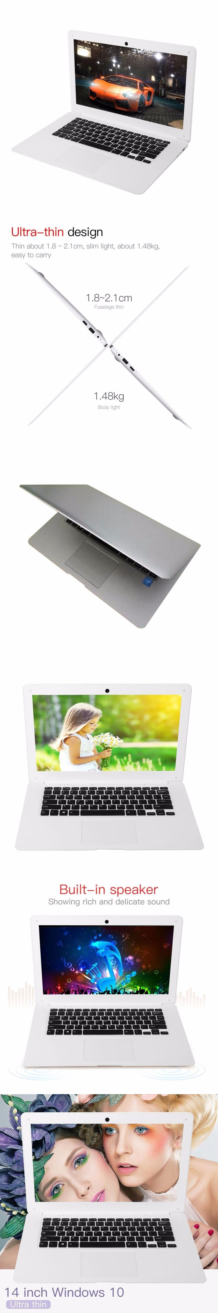 """Cewaal New Version 14"""" Inch Ultra Thin Wifi Laptop Notebook Dual Band Quick Start 1.44GHz Dual Speakers Windows 10"""