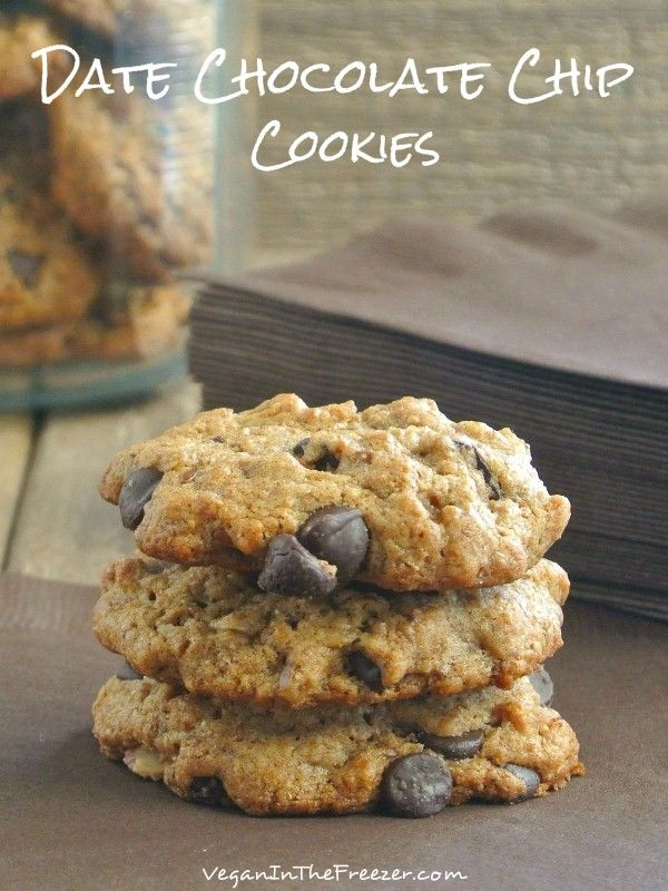 Date Chocolate Chip Cookies are a little fancier that the beloved original and healthier too.  Irresistible to everyone that passes the cookie jar.