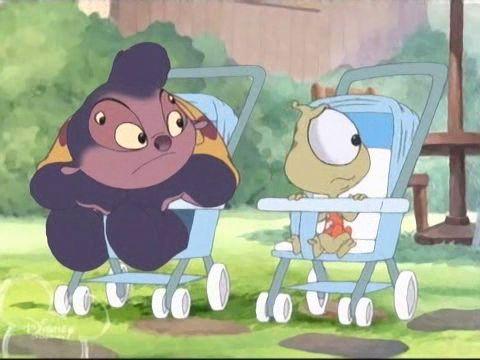 Jumba and Pleakley as babies<<< OHMYGOSH I REMEMBER THIS EPISODE!!!