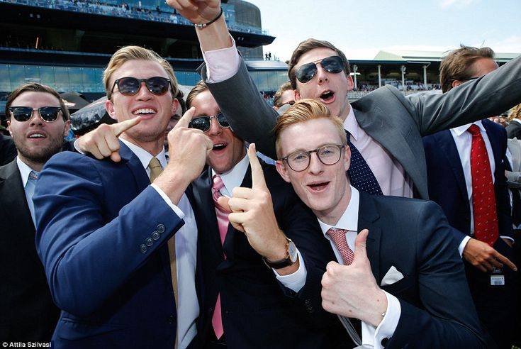 I wonder if these guys won? Celebrating at the Melbourne Cup...