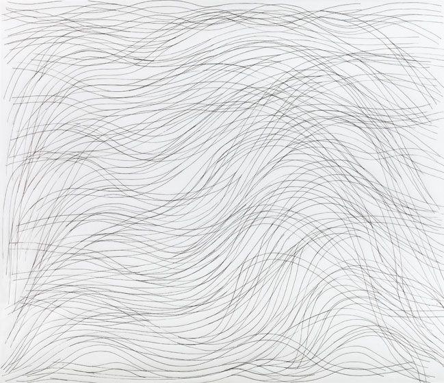 Waves. Sol Lewitt: 1998Ink