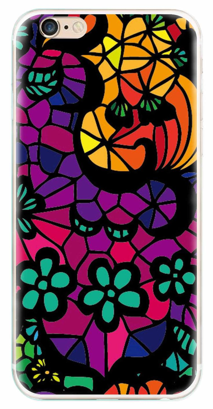 Whatskin DIY Style Colored Painting Series 07 Clear Back Cover for iphone 6