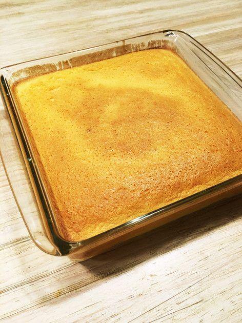 フランス発祥のマジックケーキ。 全ての材料を混ぜ合わせて焼くだけで スポンジ、カスタード、フランの三層のケーキに✨