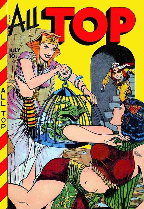 All Top comic book cover (1949)  Art: Matt Baker  Source: American Art Archives