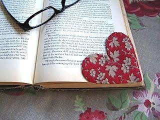 Sew Many Ways...: Fabric Heart Bookmark…Free Pattern