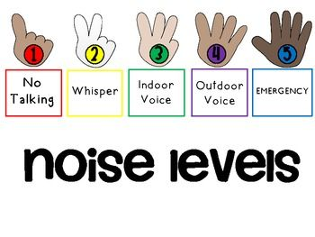Great visual cues for managing the noise level in your classroom.  FREE