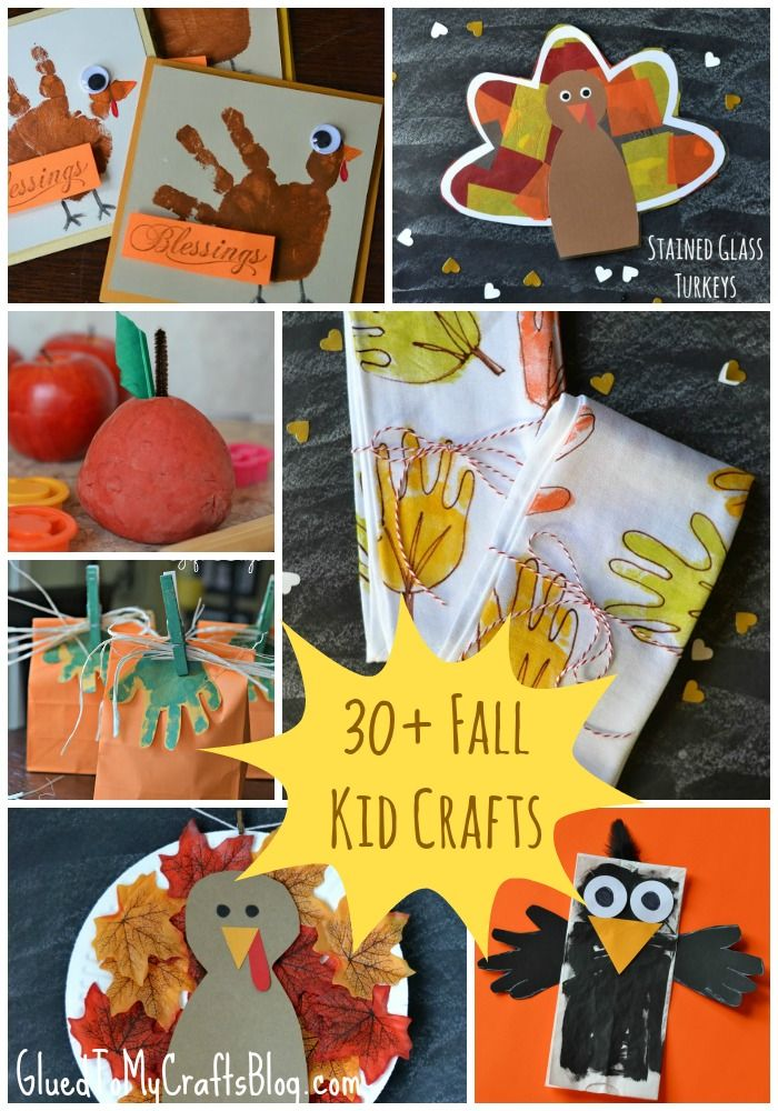 30+ Fall Kid Craft {Roundup} - tons of kid friendly stuff that is sure to inspire you this fall/Thanksgiving season!