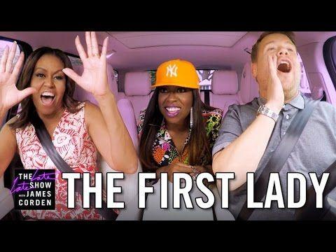 Michelle Obama Joins James Corden for Carpool Karaoke on a Tour Around the White House