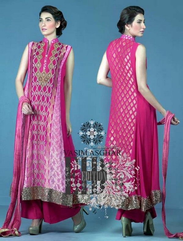 Latest Eid Ul Fitr New Arrivals Collection 2014 For Girls By Vasim Asghar