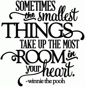 Silhouette Online Store: sometimes the smallest things - room in your heart - vinyl phrase