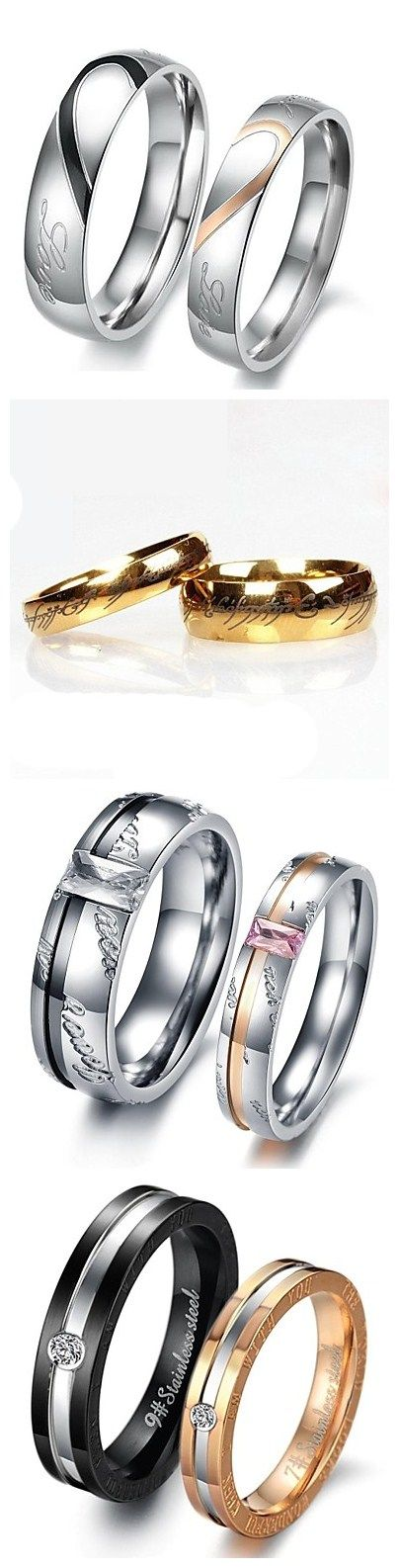 Show your love off with matching rings! Which set is your style? Click for more styles.