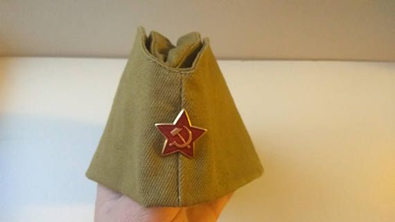 Check out this item in my Etsy shop https://www.etsy.com/listing/576192599/vintage-soviet-army-soldiers-forage-cap