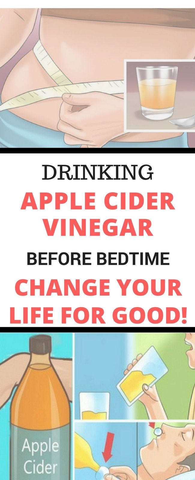 Drinking Apple Cider Vinegar Before Bedtime Will Change Your Life For Good.!! Here is.. Need to know! Amazing !!!