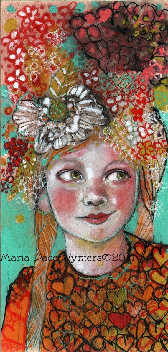 You Have My Heart- Original painting by Maria Pace-Wynters