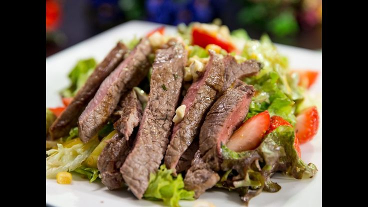 When pan-frying a steak ginger makes it a little tangy and lime juice makes it a little sour. And that means a perfect steak! For a light meal serve it with lettuce and strawberry salad. Surprisingly strawberries are a great addition to this salad!  --------------------- Follow us on: Facebook: http://sodl.co/2dRsH0l Instagram: http://sodl.co/2eMvdCP  Twitter: https://twitter.com/sodlco  Pinterest: http://sodl.co/2dRrshD