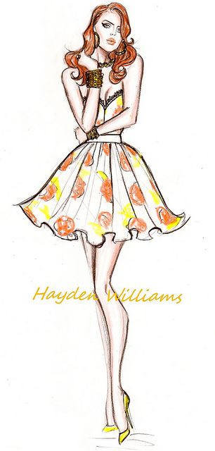 Lana Del Rey fashion illustration by Hayden Williams by Fashion_Luva, via Flickr